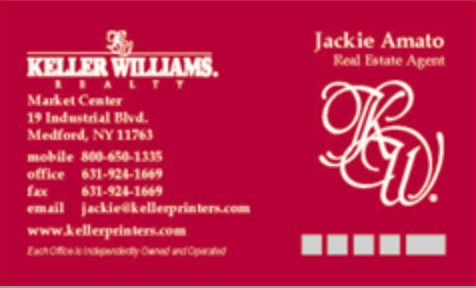 Solid Red Business Cards
