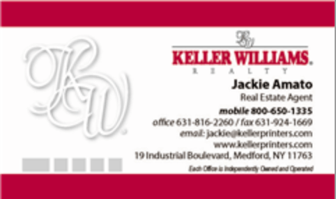 White & Red Border Business Cards