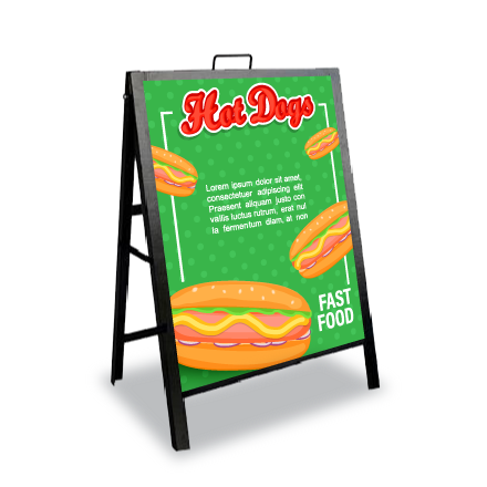 Metal frame sandwich boards